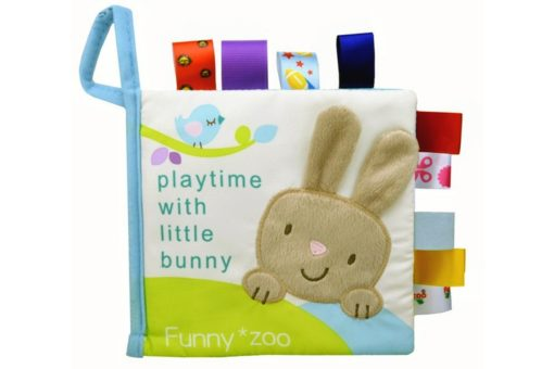 Playtime with little bunny Cloth Book cover