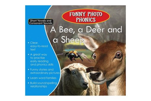 A Bee, a Deer and a Sheep- Funny Photo Phonics 9789350493281 cover