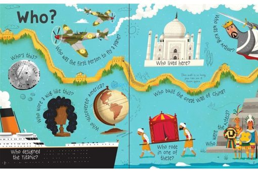 Lift-the-Flap Questions & Answers about Long Ago (2)