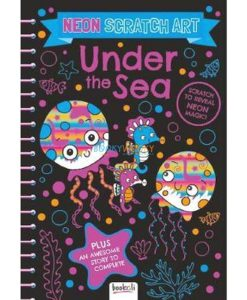 Neon Scratch Art Under the Sea 9781787722736 cover