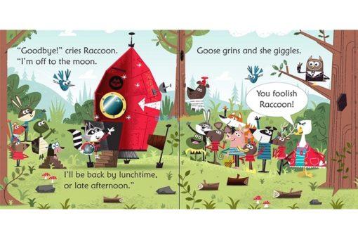 Raccoon on the Moon- Usborne Phonics Readers 1