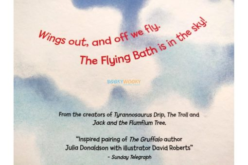 The Flying Bath Julia Donaldson hardcover inside back cover
