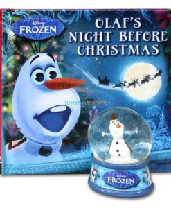 Olafs Night Before Christmas (with Glitter Globe) 9781789055603 Book and globe