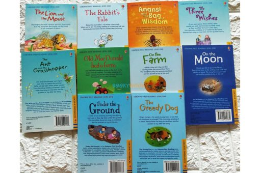 Usborne First Reading Level 1 titles back covers