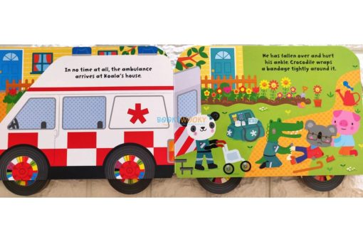 Baby's Very First Ambulance Book with Wheels 9781474981118(3)