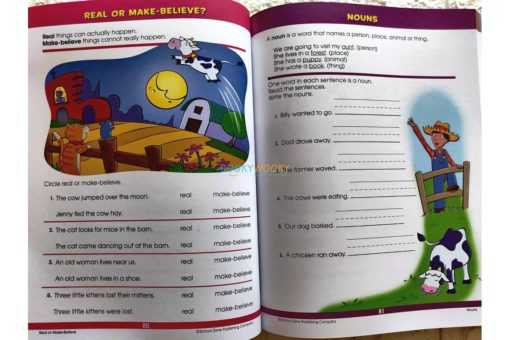 Giant First Grade (5) School Zone workbook