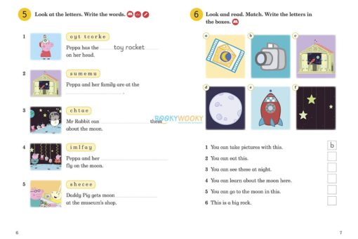 Peppa Pig Going to the Moon Activity Book - Ladybird Readers Level 1